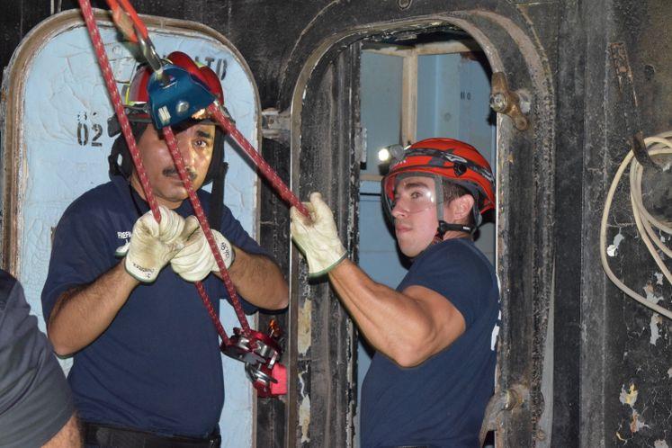 CCFD Training at USS Lexington