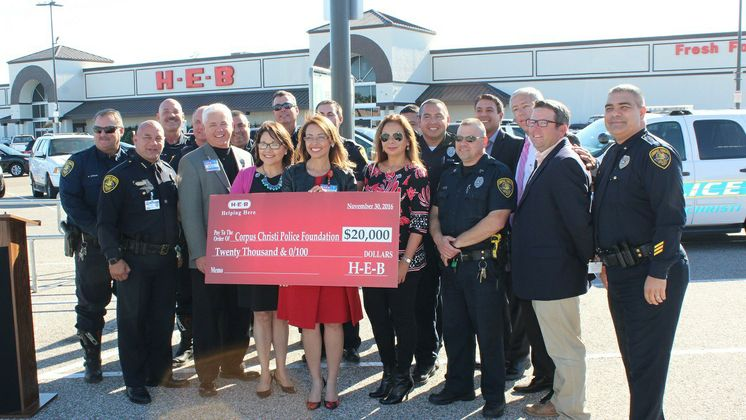 CCPD Police Foundation accepts HEB Donation