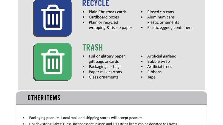 Chrismas Recycling Flyer