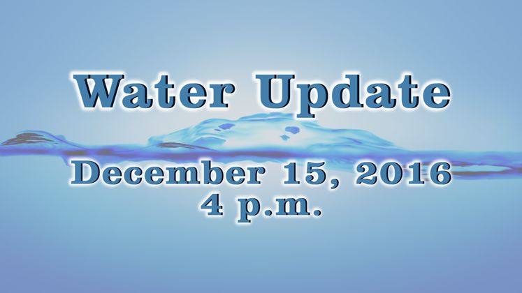 Water Press Conference – 12-15-16 – 4 p.m.