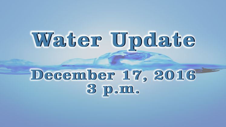 Water Press Conference – 12-17-16 – 3 p.m.