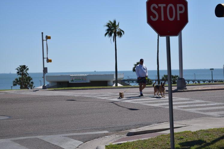 Crosswalk at Ocean Dr. and Del Mar Blvd.