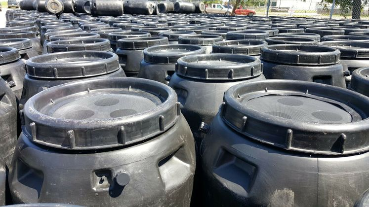Hundreds of Barrels Ready for Distribution