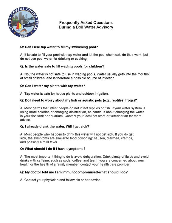 Water Boil FAQ 4