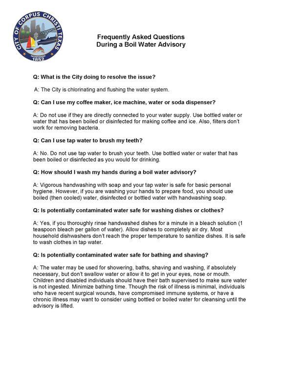 Water Boil FAQ 5