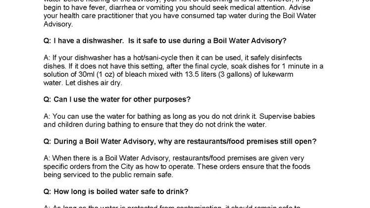 Water Boil FAQ 2