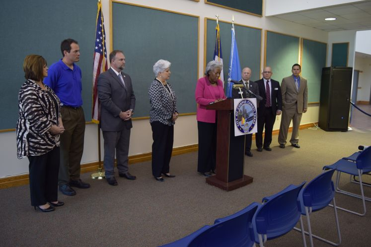 City Administration and Council Members address the Media