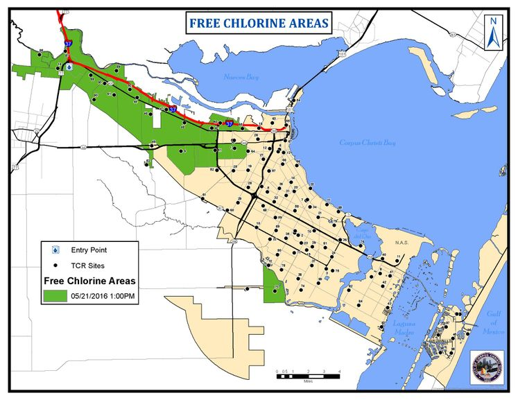 5-21-16 Free Chlorine area Map#2