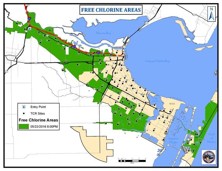 Free Chlorine Areas 8pm 5-22-16