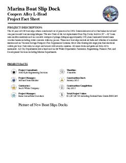 New Boat Slip Docks Fact Sheet