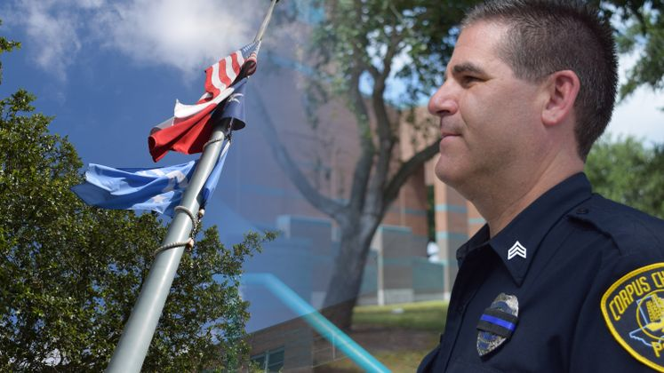 Sr. Officer Marc Harrod pays tribute to fallen Officers