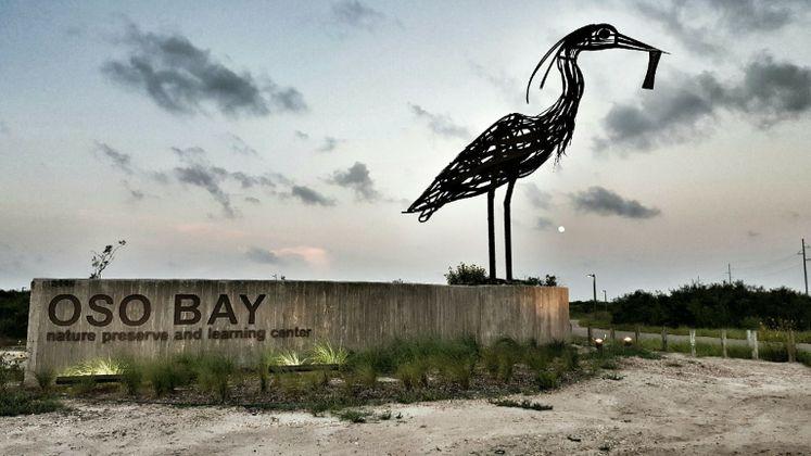 Oso Bay Nature Preserve at dusk