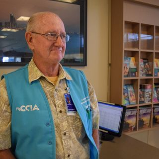 City Volunteer Continues Childhood Dream at Airport
