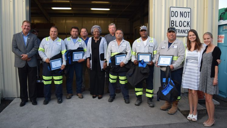 Solid Waste Employees Awarded This Morning