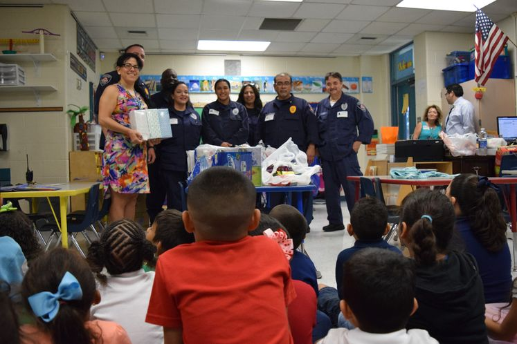 CDC Officers Adopt a Class for School Supplies