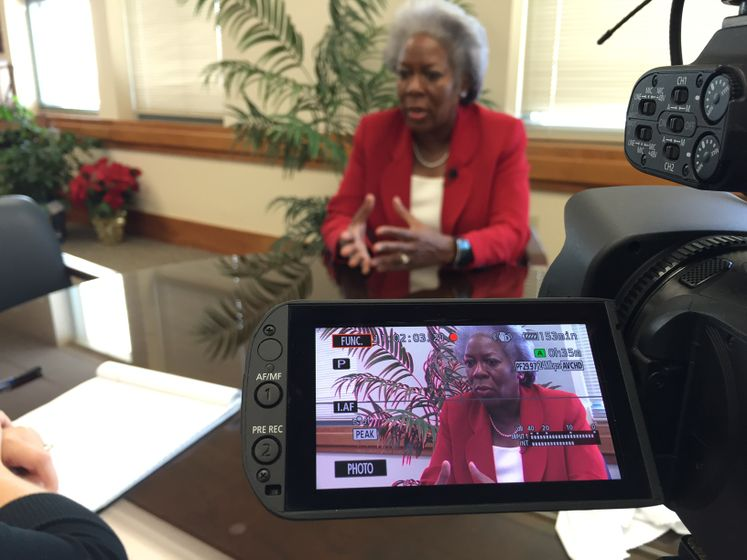 City Manager Margie C. Rose during an interview