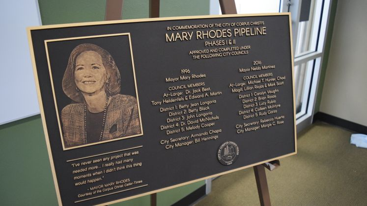 Mary Rhodes Pipeline Phase II Dedication