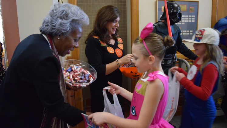 Trick or Treating at City Hall