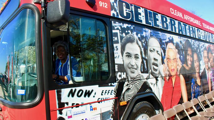 Black History Month Bus Unveil