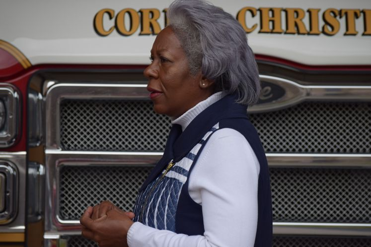 City Manager Margie C. Rose visits Fire Sta. No 1