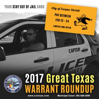 2017 Great Texas Warrant Roundup Amnesty Period Ends This Week