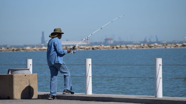 Fisherman at Corpus Christi Bay