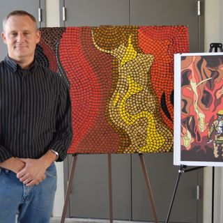 Newly Installed Art Pays Tribute to Firefighters Who Risk Their Lives for their Community