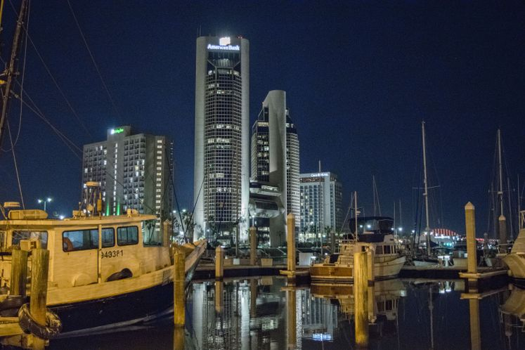 Corpus Christi Marina at Night