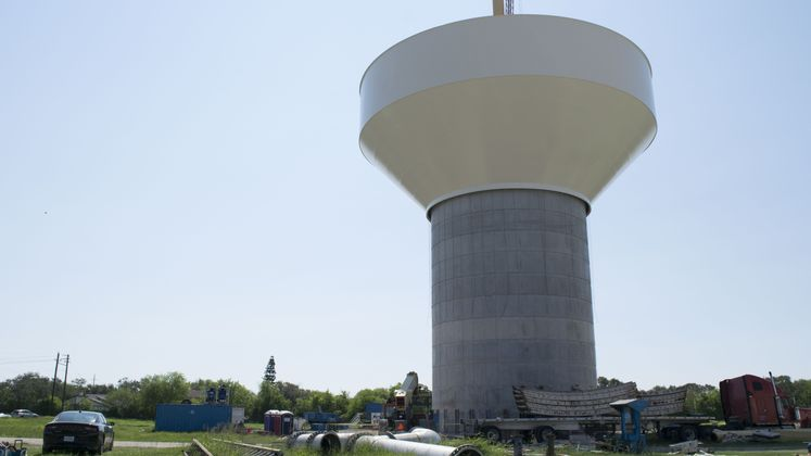 Bowl Lifted at Holly Rd. Water Tower / September