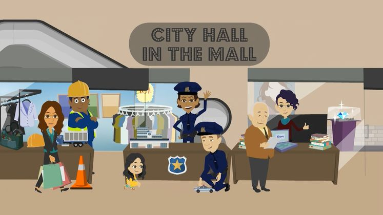 City Hall in Mall