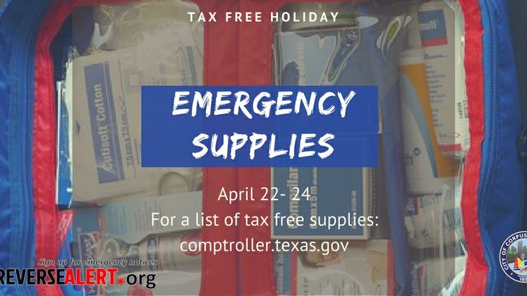 Tax Free Emergency Supplies
