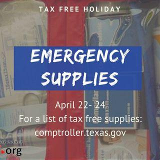 Fin de semana libre de impuestos en artículos de emergencia