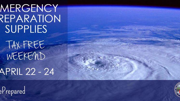 Tax Free Emergency Supplies