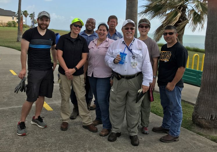 City Employees at Ropes Park Clean up