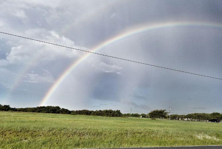 Double Rainbow in Flour Bluff