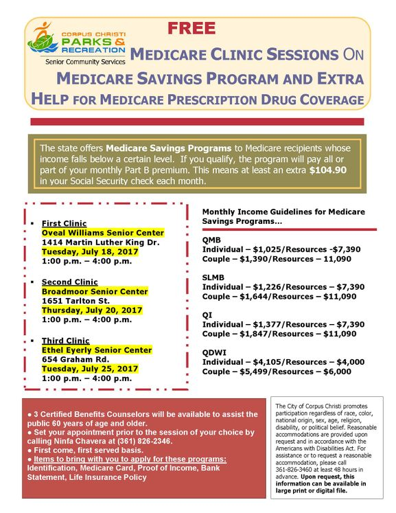 July Medicare Clinics_poster 2017