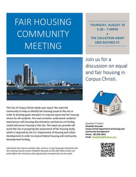 Fair Housing Community Meeting
