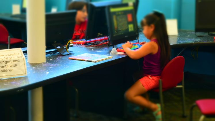 Kids Learning at McDonald Library