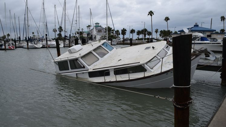 Harvey Aftermath at CC Marina