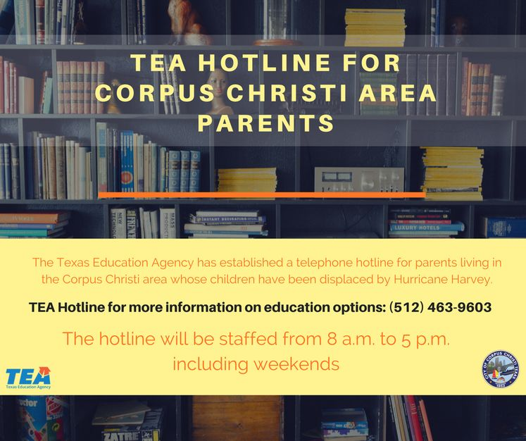 TEA HOTLINE for corpus christi area parents