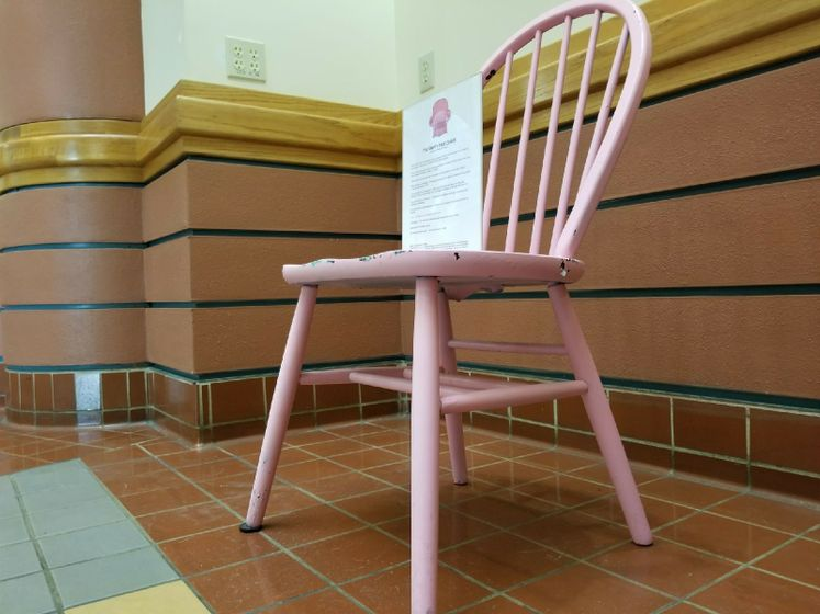 Pink Empty Chair, October, Breast Cancer Awareness Month
