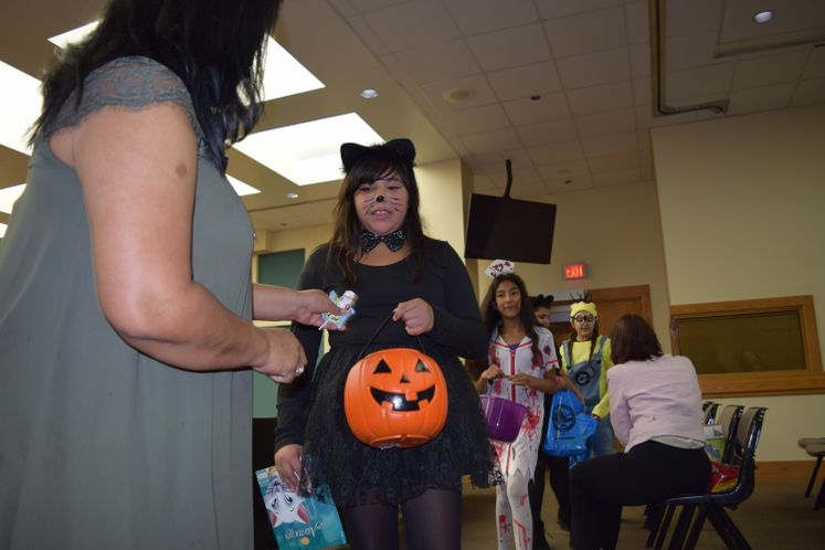 G. Evans Students Celebrate Halloween at City Hall