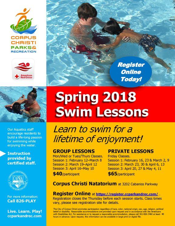 2018 Swim Lessons