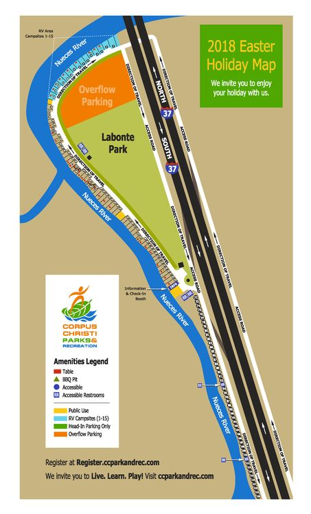 Labonte Park Easter Camping Map 2018