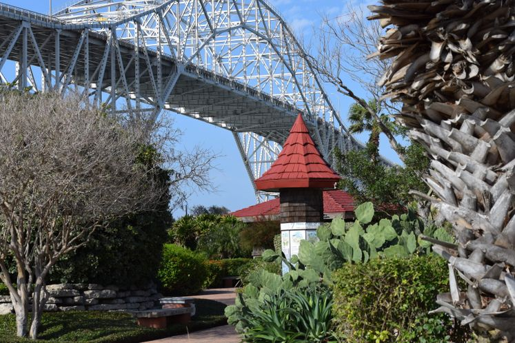 Xeriscape Garden and Harbor Bridge