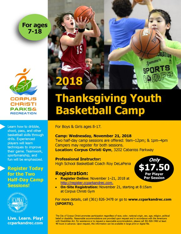 2018 Thanksgiving Youth Basketball Camp
