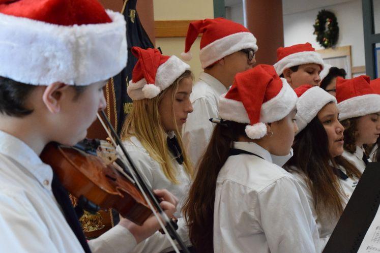 Bishop Garriga Choir and Violinist