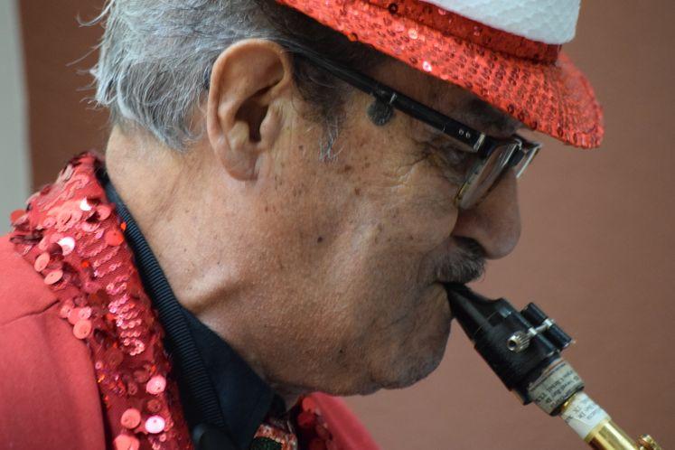 Saxophonist Hector Garza