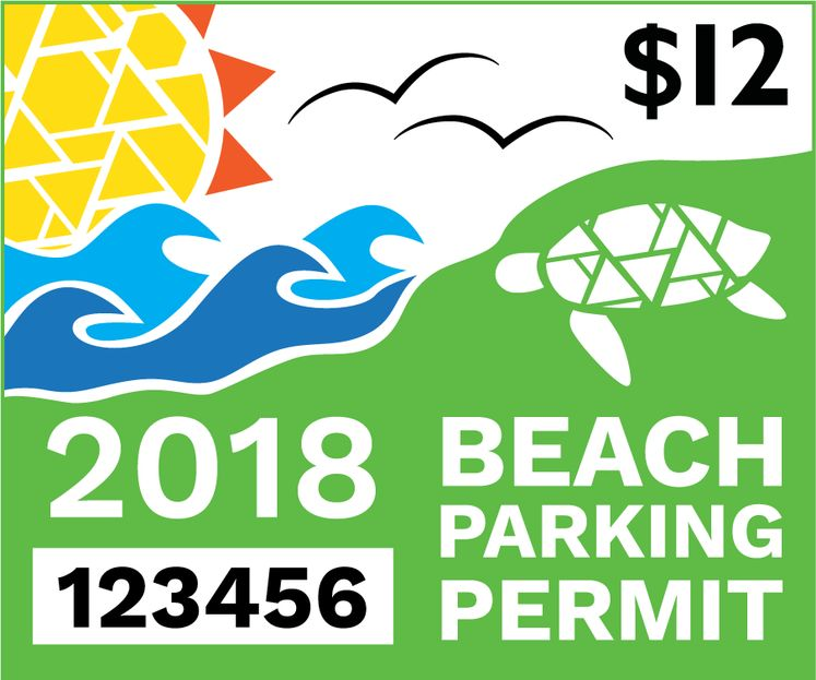 2018 Beach Parking Permit
