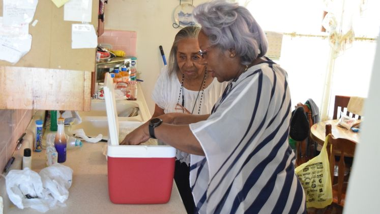 City Manager Margie C. Rose Delivers Lunch for Meals on Wheels Program